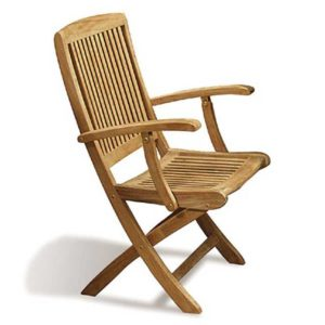 folding armchair teak garden jepara furniture indonesia