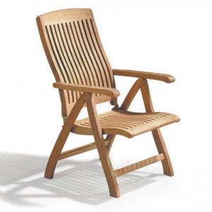 reclining armchair teak garden jepara furniture indonesia