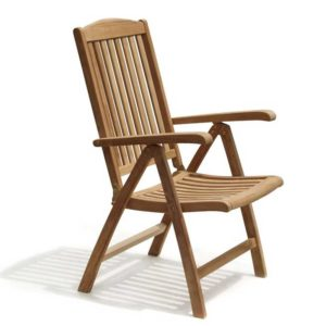 reclinogn armchair teak garden jepara furniture indonesia