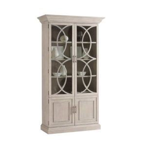 bookcase with glass door